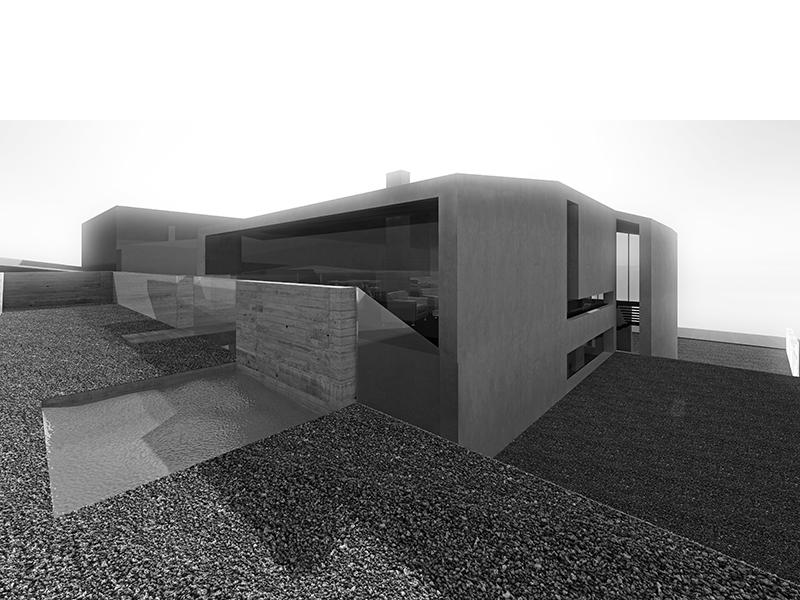 Icelandic hill house