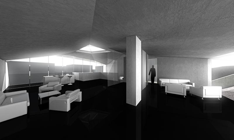 Iceland concrete house