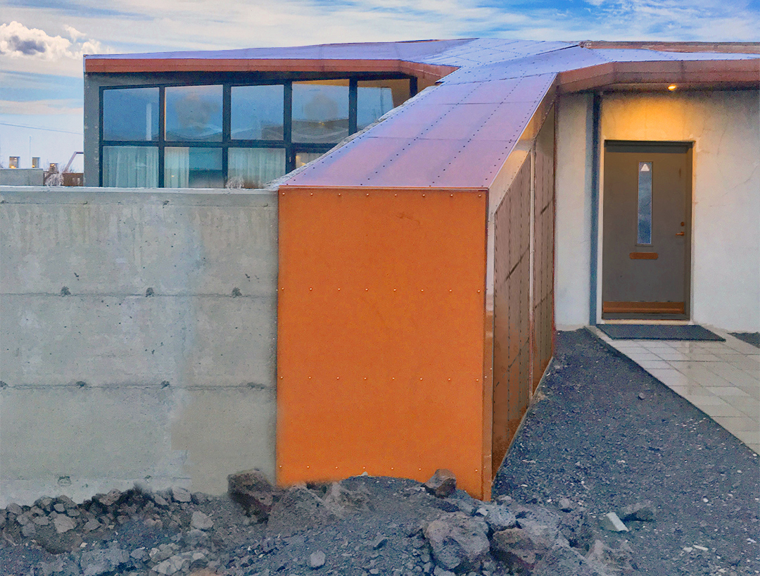 Iceland architecture house concrete rusted steel