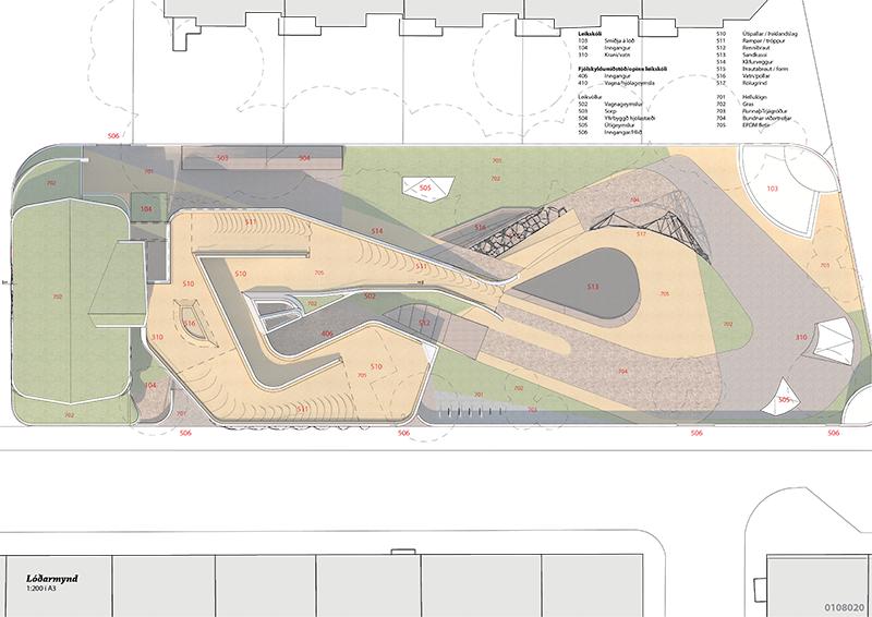Kindergarten plan landscape pattern