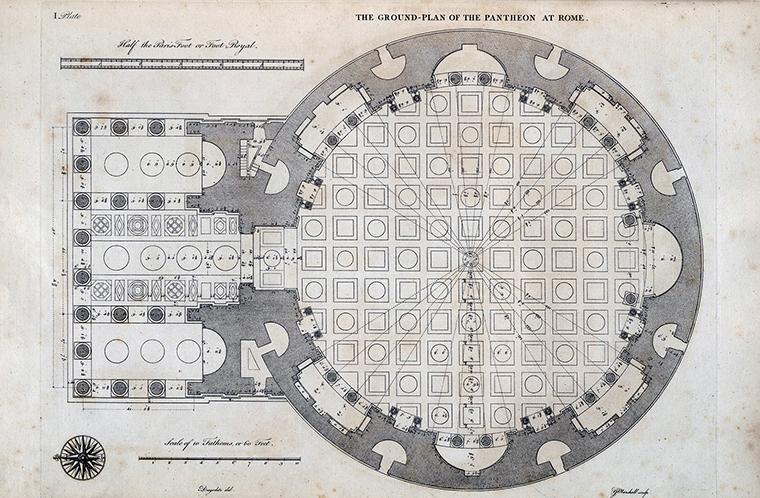 Pantheon Plan Rome