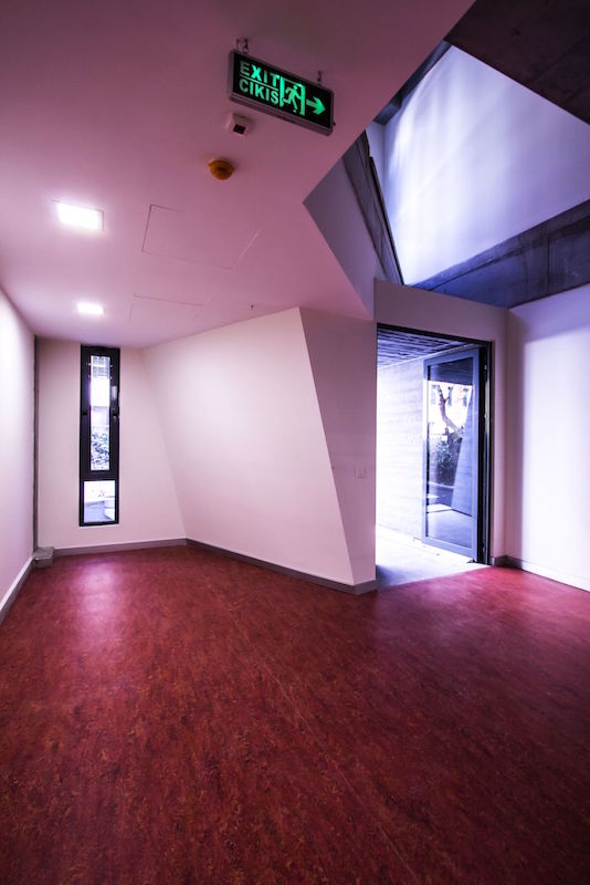Red entrance space