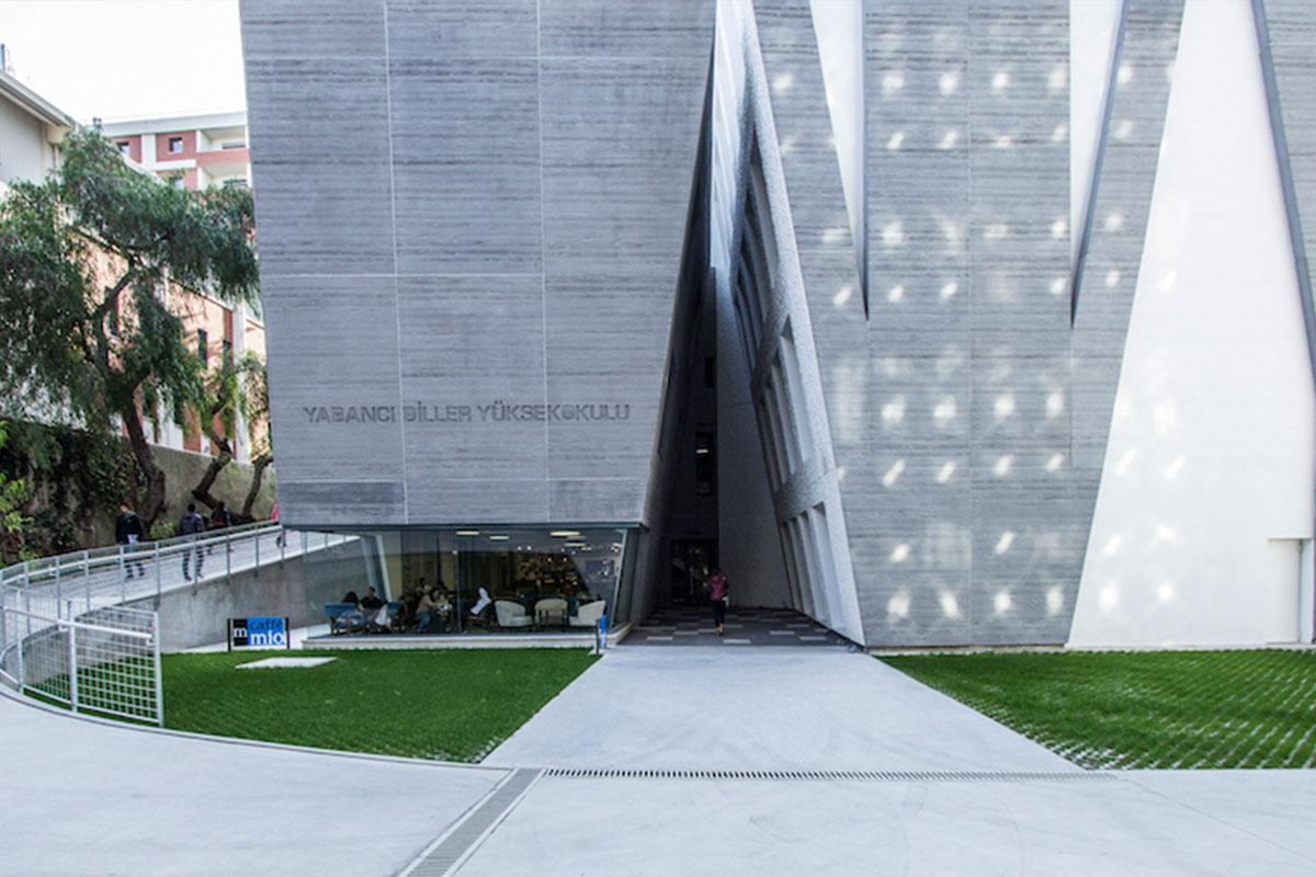 Landscape geometric forms architecture