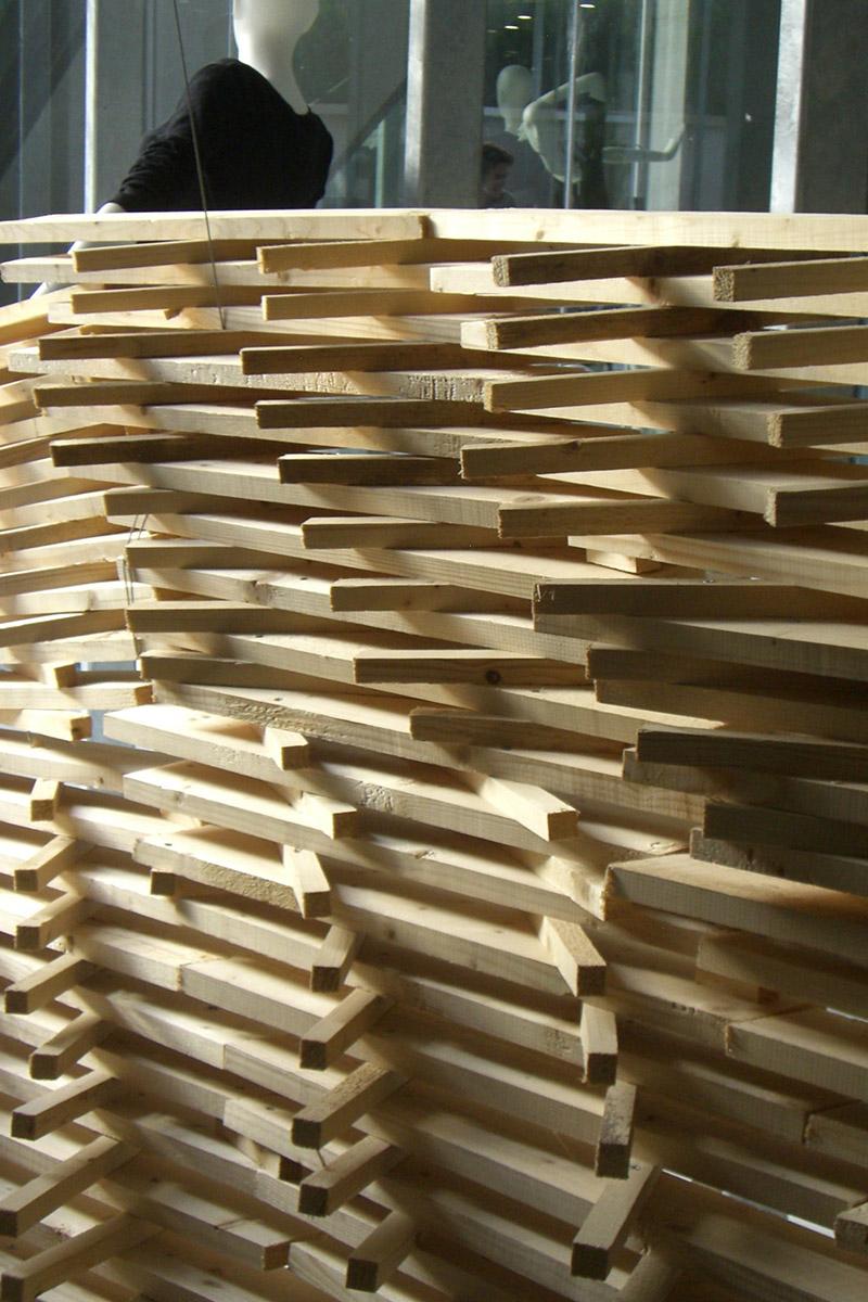 Timber batter installation