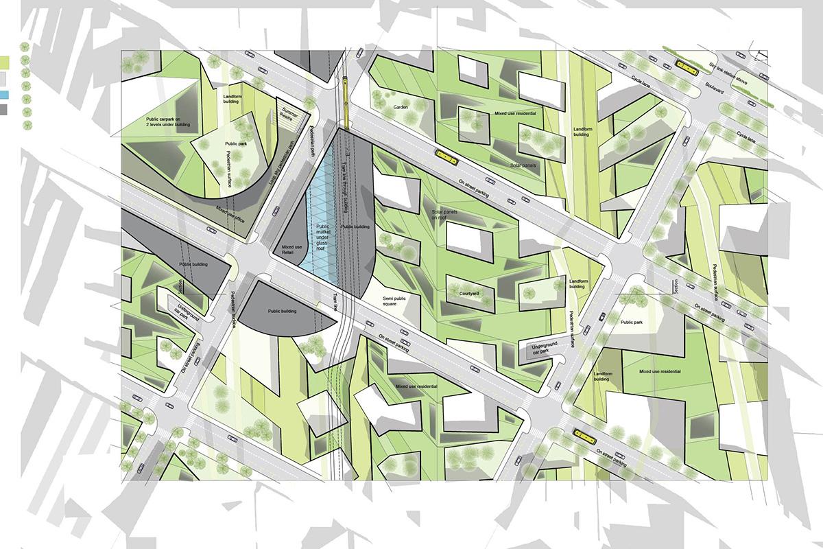 City block plan Reykjavik