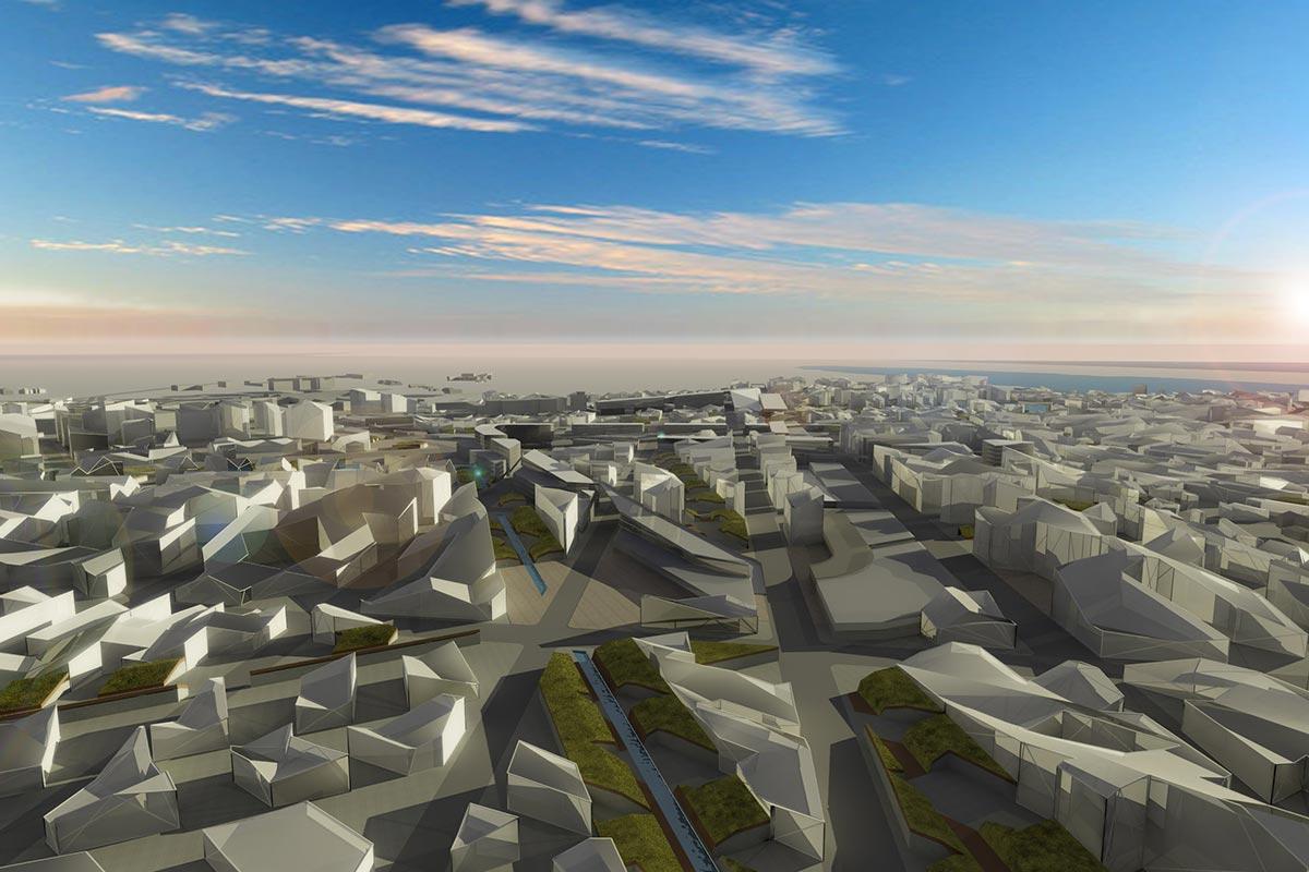 Parametric urban masterplan